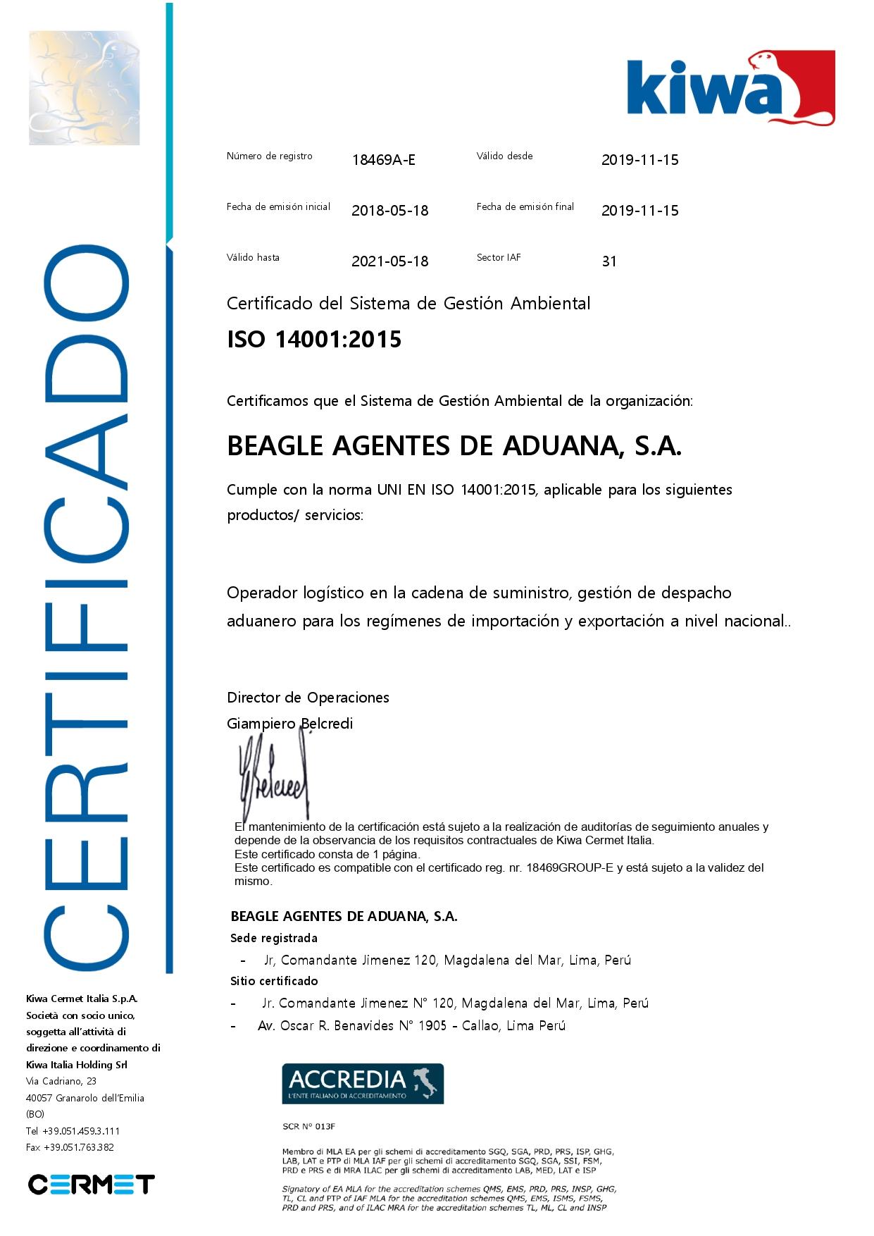ISO 14001:2015 SISTEMA DE GESTIÓN AMBIENTAL